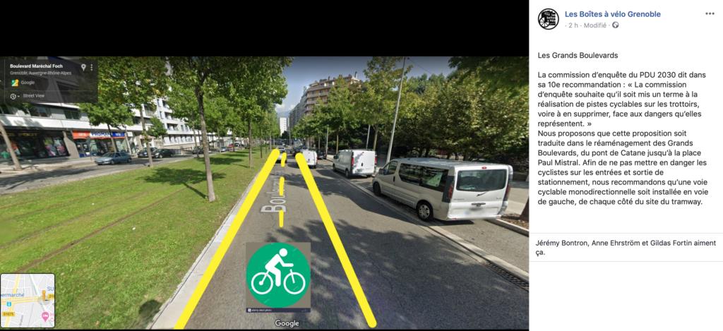 Extrait Facebook - Les Boîtes à Vélo Grenoble