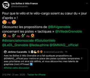 Extrait Twitter - Les Boîtes à Vélo France